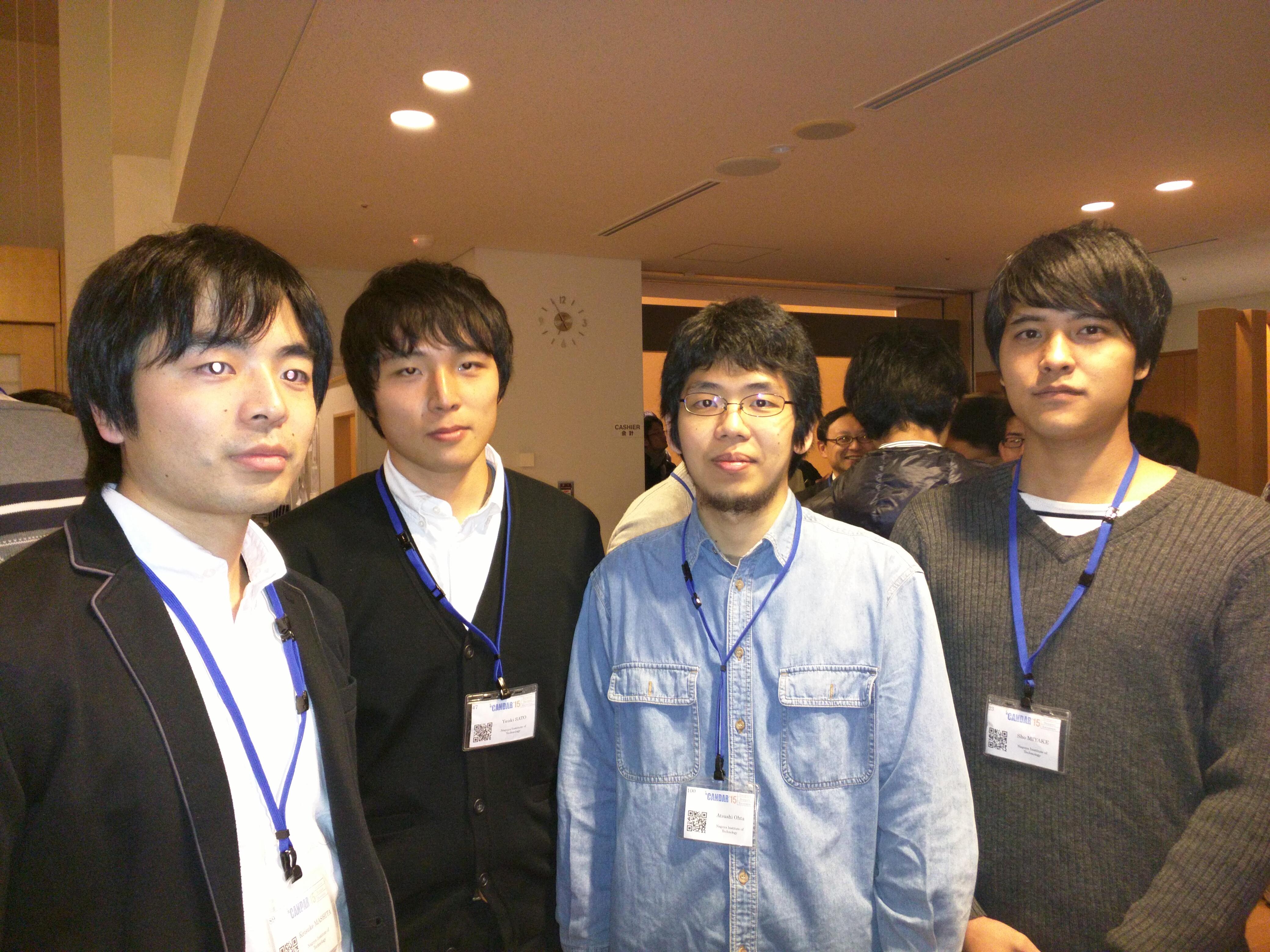m1 が 札幌で開催された国際会議candar 15の併設ワークショップ